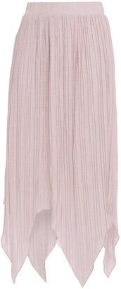 Walter Baker Asymmetric Metallic Knitted Skirt
