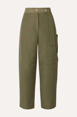 Acne Studios Peganne Coated-canvas Straight-leg Pants - Army green