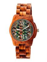 Earth Wood Heartwood Skateboard-Dial Red Bracelet Watch With Date Ethew1507