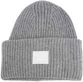 Acne Studios Pansy Face Embroidered Wool Beanie