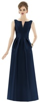 Alfred Sung D655 Bridesmaid Dress in Midnight