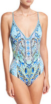 Camilla Wired Embellished V-Neck One-Piece Swimsuit