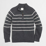 J.Crew Factory Boys' striped half-zip sweater