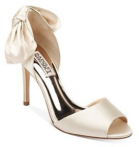 Badgley Mischka Women's Eugenie Peep-Toe d'Orsay Pumps