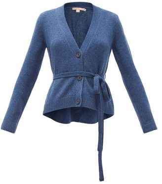 Brock Collection Belted Cashmere Cardigan - Womens - Blue