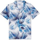 Orlebar Brown Travis Camp-collar Printed Cotton-poplin Shirt - Navy