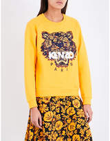 Kenzo Icon Tiger-embroidered cotton-jersey sweatshirt