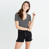 Madewell Cameo Scoop Bodysuit in Natasha Stripe
