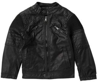 Urban Republic Faux Leather Ribbed Jacket (Toddler & Little Boys)