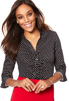 New York & Co. Madison Stretch Shirt - Polka-Dot Print
