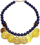 One Kings Lane Vintage Navy Blue Coin Necklace