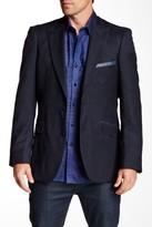 Robert Graham Notch Lapel Two Button Callander Navy Paisley Wool Sport Coat