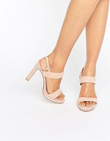 Dune Bridal Maye Blush Suede Heeled Sandals