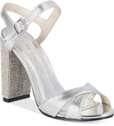 Caparros Hayley Embellished Block-Heel Evening Sandals Women's Shoes