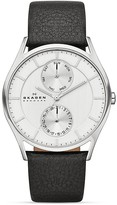 Skagen Sonder Leather Strap Chronograph Watch, 40mm