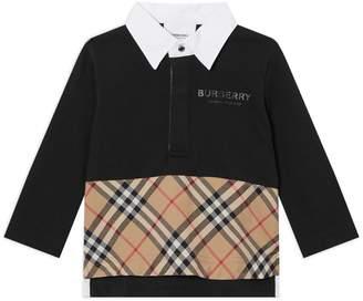Burberry Logo Nova Check Polo Shirt