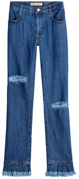 Stonewashed Flare Jeans