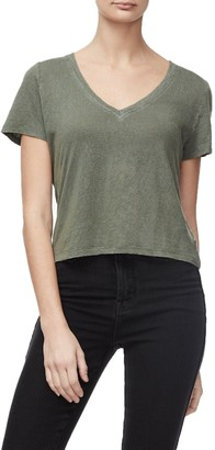 Good American The Worn-In Tee   Olive002