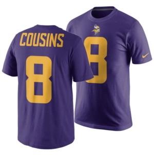 Nike Men's Kirk Cousins Minnesota Vikings Pride Name and Number Wordmark Color Rush T-Shirt