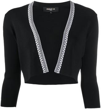 Paule Ka Cropped Fine Knit Cardigan