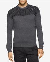 Calvin Klein Men's Multi-Textured Colorblocked Sweater
