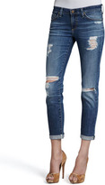 AG Adriano Goldschmied Stilt Thrasher Distressed Cuffed Jeans
