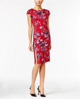 ECI Floral-Print Sheath Dress