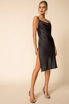 superdown Side Slit Slip Dress
