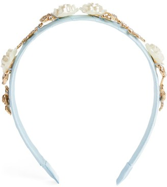 David Charles Filigree Rose Leaf Hairband
