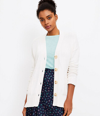 LOFT Relaxed V-Neck Cardigan