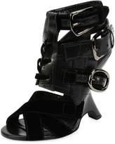 Tom Ford Multi-Strap 110mm Wedge Sandal, Black