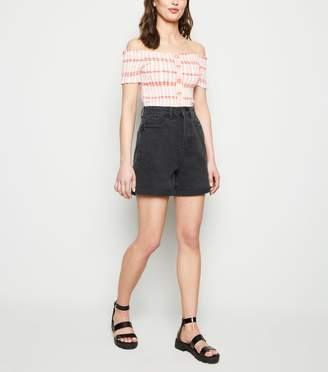 New Look Vintage Wash Longline Denim Mom Shorts