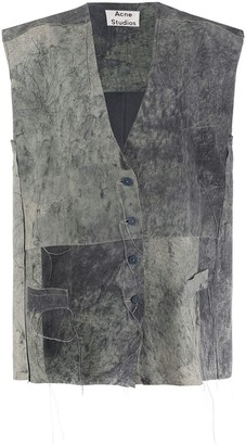 Acne Studios Distressed Suede Gilet