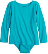 Girls 4-12 Jumping Beans Adaptive Long Sleeve Mock-Layer Bodysuit