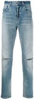 Saint Laurent distressed detail slim-fit jeans