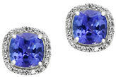 Effy Diamond, Tanzanite and 14K White Gold Earrings- 0.17 TCW