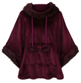 George Hooded Fleece Poncho Dressing Gown