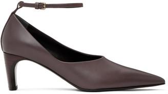 Jil Sander Purple Ankle Strap Heels
