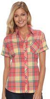 Woolrich Women's Tall Pine Seersucker Plaid Shirt