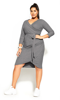 City Chic Lounge About Dress - grey