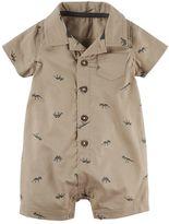 Carter's Baby Boy Dinosaur Button-Front Romper