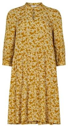 Nümph Bijou Floral Smock Dress Buck Brown - 34