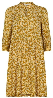 Nümph Bijou Floral Smock Dress Buck Brown - 36
