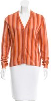 Bottega Veneta Striped Silk-Blend Cardigan w/ Tags