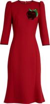 Dolce & Gabbana Apple-appliqué twill dress