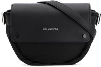 Karl Lagerfeld Paris K/Ikon leather panelled belt bag