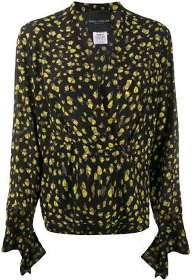 Cavallini Erika silk V-neck blouse