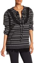 Cynthia Rowley Tweed Fringe Pullover