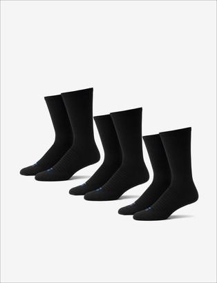 Tommy John Men's Go Anywhere Sock 3 Pack, Black
