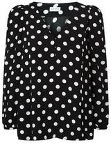 Claudie Pierlot Bertille Polka Dot Blouse